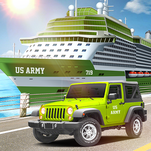 US Army Car Transport: Cruise Ship Simulator Games картинка